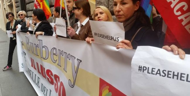 commessi burberry sciopero roma
